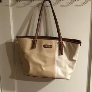 Anne Klein Two-Tone Tote Handbag